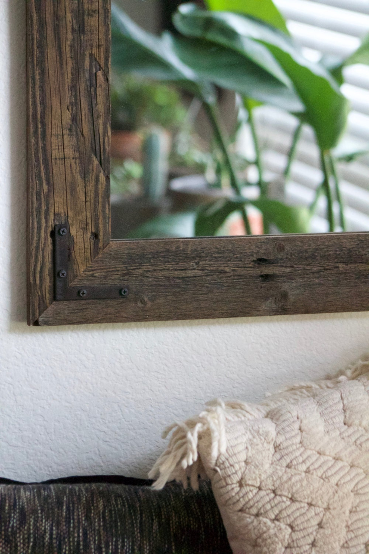 24x30 Reclaimed Wood Bathroom Mirror Rustic Modern Home