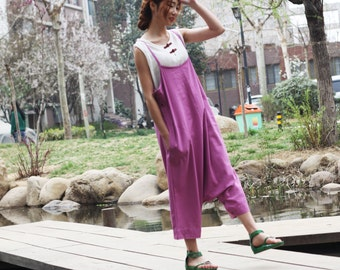purple linen maxi dress pants---a pants a dress black grey linen dress