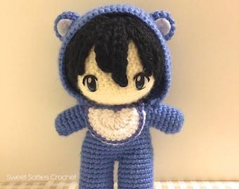 Amigurumi Hair Boy : 6 Chibi Doll Base Amigurumi Crochet Pattern for Custom