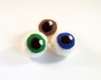Cat toys, cat balls, 2 sets of 3 wet felted wool eye balls for cats, Halloween item, human eye, kitten toys, cat accessories, cat supplies