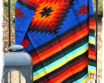 LARGE Mexi-Blanket - Home Decor - Beach Blanket - Festival Blanket - Concert Blanket - Mexican Blanket - Mexican Throw - Vintage Blanket