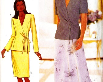 Butterick 6000 Misses' David Warren Designer Two Piece Suit Dress Sewing Pattern 20-24