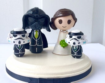stormtrooper wedding cake topper vows by littlevows on etsy 20536