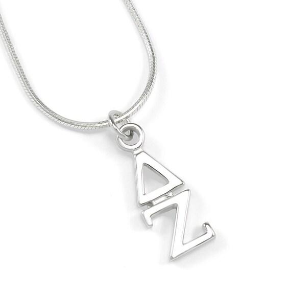 delta zeta sterling silver lavaliere sorority jewelry