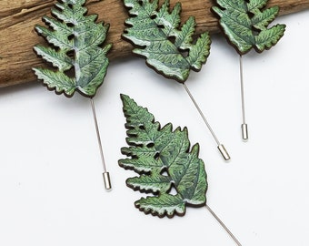 Fern accessory, mens brooch, wedding pin, fern pin, fern, foliage, fern brooch, natural wedding, grooms men gift, wedding lapel pin