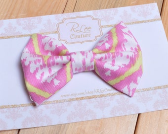 Pink Aztec Hair Bow