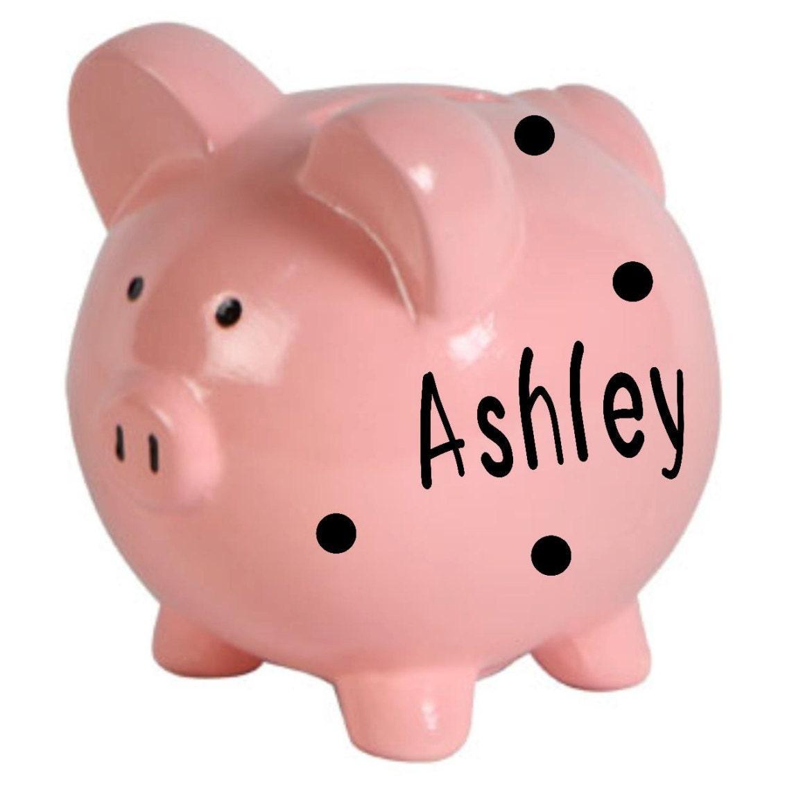 Personalized piggy bank ceramic piggy bank piggy bank boy - Ceramic piggy banks for boys ...