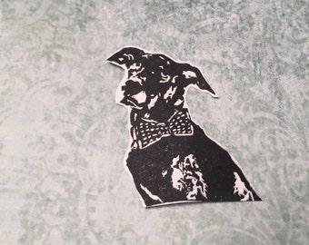 Custom Pet Portrait- Dog Stamp