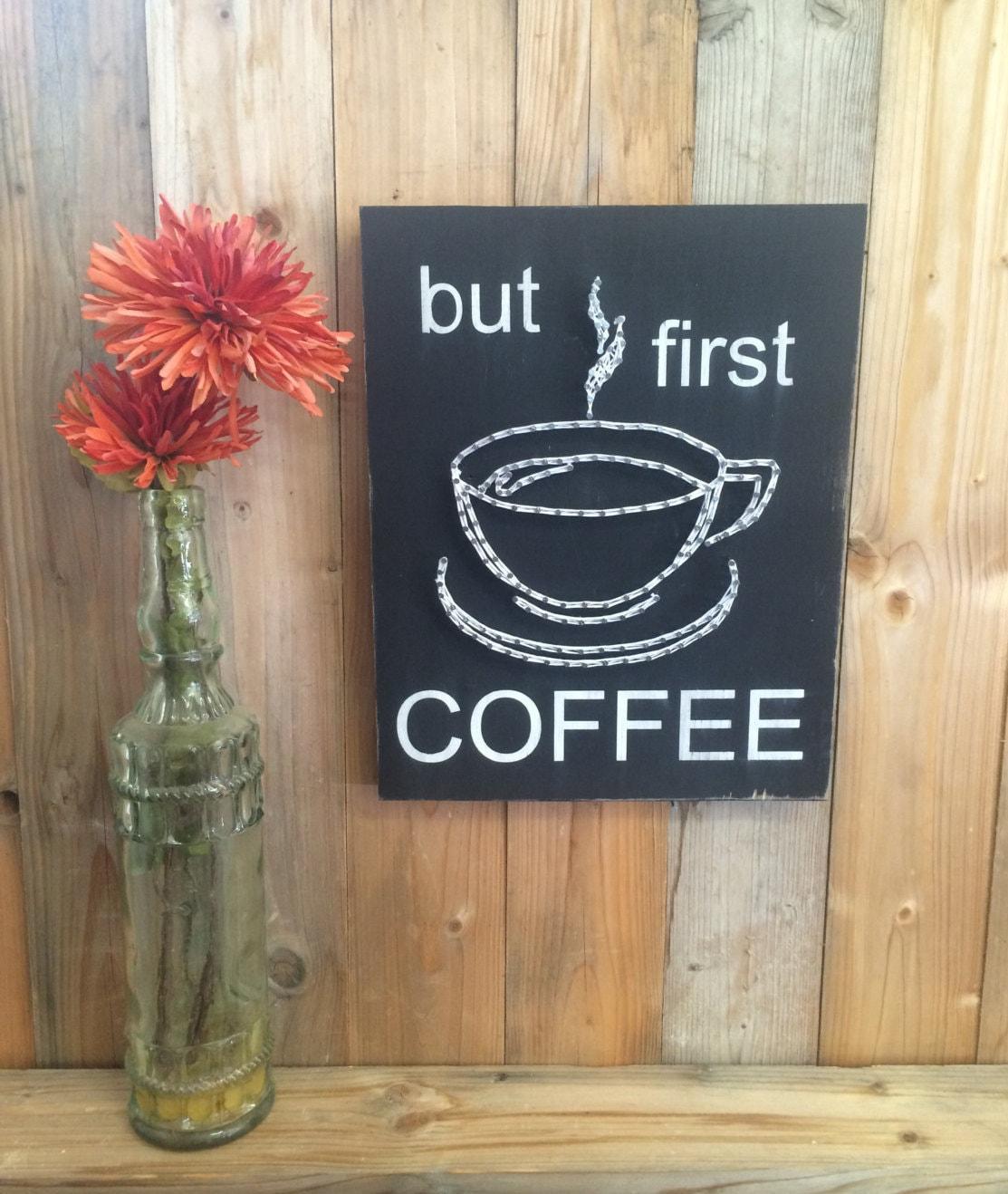 Kitchen Coffee Signs: Coffee Kitchen Wall String Art Sign Coffee Sign Coffee