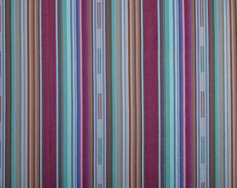 Serape Stripe Fabric - Plum