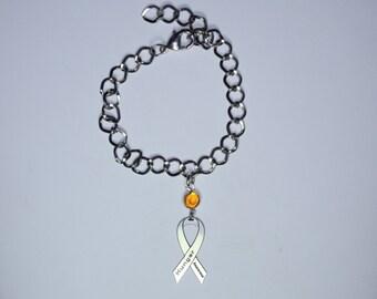 Hunger Awareness Ribbon Bracelet - End World Hunger