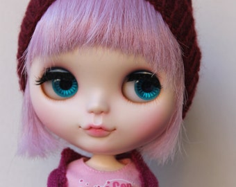 Slouchie Cabled Hat for Blythe