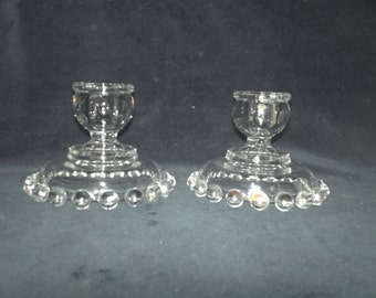 Candlewick Glass Candle-holders
