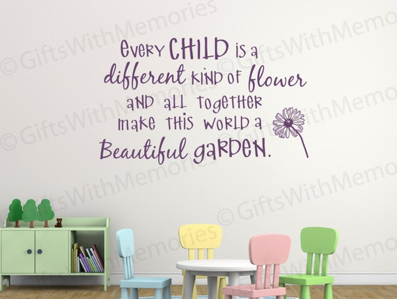 Classroom wall stickers kids room quotes by mydandeliondecals for Inspirational quotes for kids room