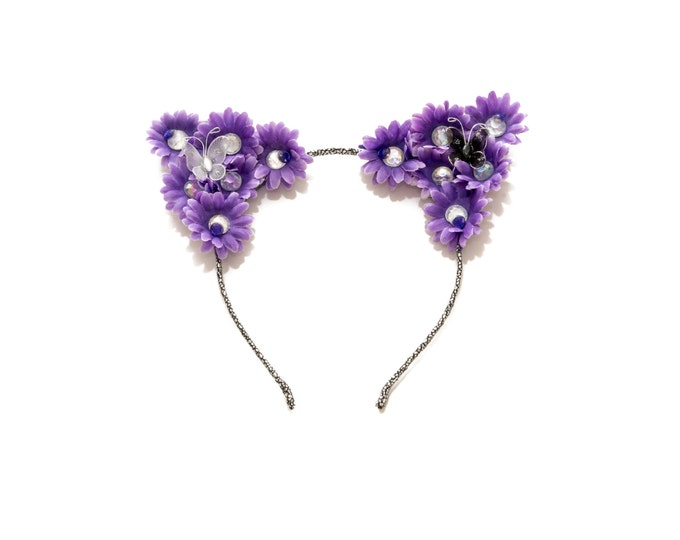 Purple Cat Ear Headband