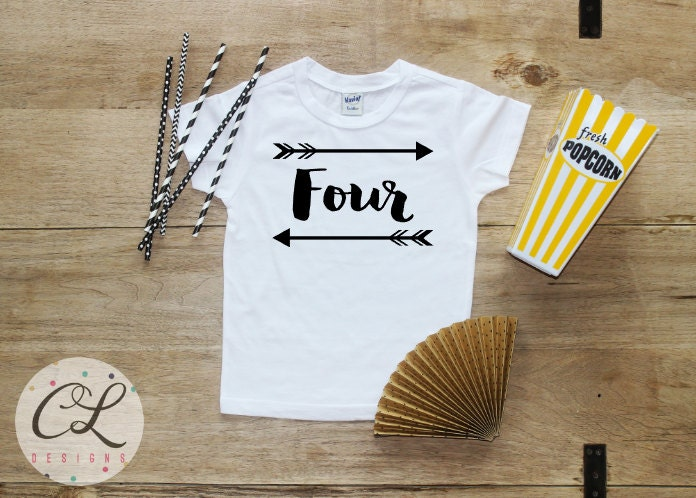 Birthday Boy Shirt Baby Clothes 4 Year Old Outfit Fourth TShirt 4th
