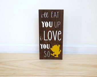 Ill Eat You Up I Love You So, Where The Wild Things Are Baby Shower, Woodland Nursery Decor