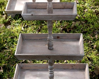 3-Tier Rustic Wood Stand, Rustic, Wedding, Events, Holidays, Gatherings