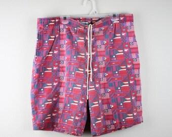Vintage Sergets Jams Geometric Men's Shorts