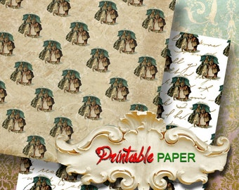 BEATRIX - 2 SHEETs Printable wrapping paper for Scrapbooking, Creat - Download and Print