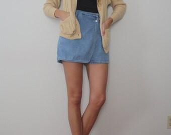 SALE Vintage High Rise Denim Shorts/Skort