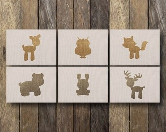 5x7 Woodland Nursery Art - Instant Download Nursery Art - Woodland Nursery Printables - Woodland Animal Nursery