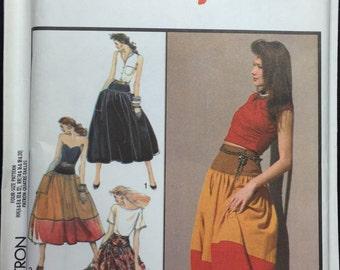 Vintage 1980's Style Pattern 1520 Boho Full Skirt sizes 6,8,10,12 uncut from 1988