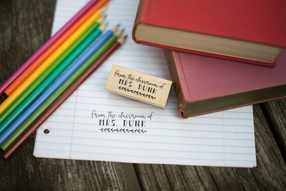 From The Classroom Of Customizable Teacher Stamp - Bookplate Stamp - Ex Libris Stamp - Teacher Gift - T1