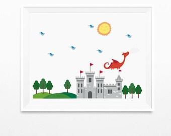 Fairy Tale art print, art prints for kids, wall decor art prints, kids art print, nursery decor, children art print, nursery wall art