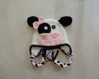 Crochet Cow hats, Luv Beanies, Cow hats, Cow Hats, Girl Hats, Photo Props, Crochet Cow Hats, Flower Beanies, Children Hats, Animal Hats
