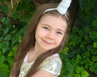Unicorn horn headband - white - unicorn horn -single
