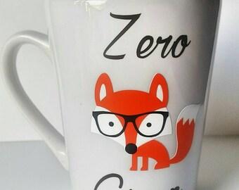 Zero fox given mug - zero fox given - fox mug - funny mug - zero fox - fox coffee mug - fox cup - ceramic mug - funny coffee cup - funny cup