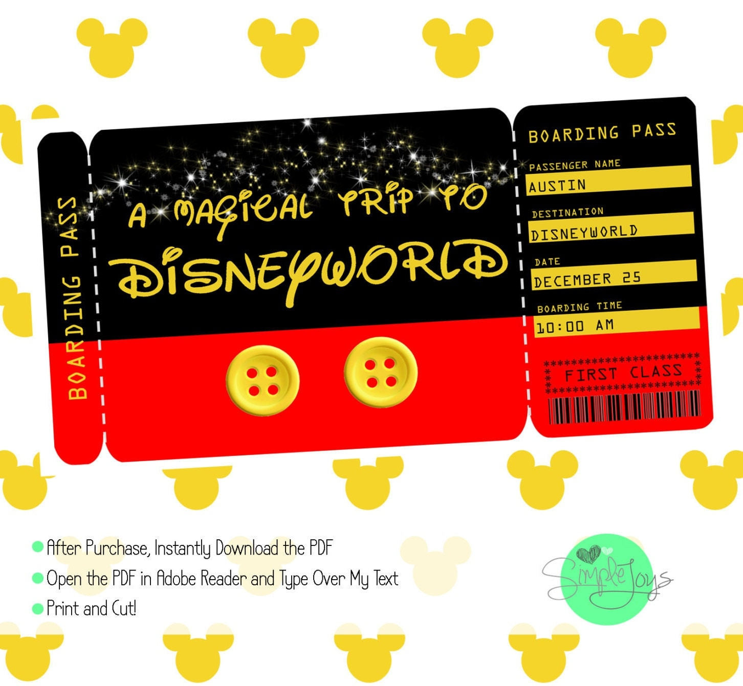 It is a photo of Clean Free Printable Disney Tickets