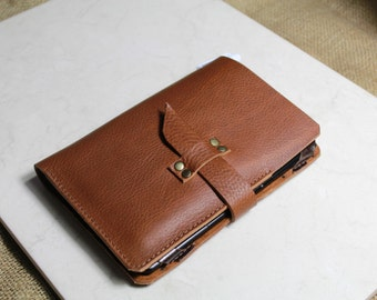 Kindle case - Kindle PAPERWHITE case in RUSSET - Kindle cover in Italian chrome tanned leather - Handmade by Valentina