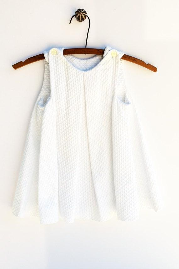 2T Dress White A line Dress Baby Clothes Vintage Size 2T