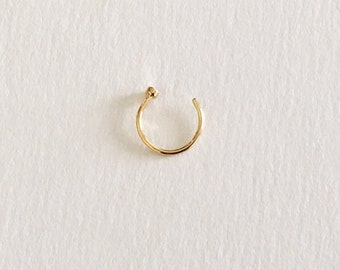 Gold Nose Hoop Ring (8mm,10mm) 20 Gauge (NPC-19), Surgical Steel, Nose Piercing, Nose Jewelry, Hoop Ring, Body Jewelry, Gold Nose Ring