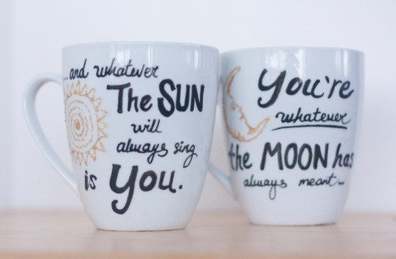 Wedding Engagement Gifts For Couples: Unique Engagement Gifts-Couples Mug Set-Unique Wedding Gift