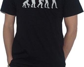 Evolution Photography T-Shirt Funny Evolution of Man Ape Photographer