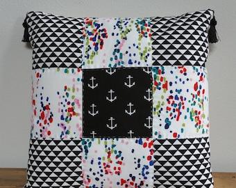 Beach & Blvd Patchwork Pillow (A)