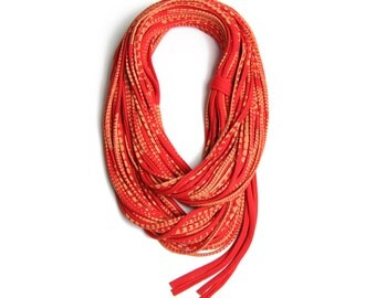 Girlfriend Gift, Red Scarf, Gift Idea, Wife Gift, Gift For Her, Red Gold Scarf, Winter Scarf, Girlfriend Gift, Mom Gift, Valentines Gift