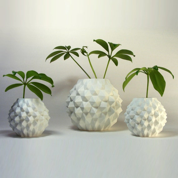 Plant Pots Geometric Pattern Indoor Planter By