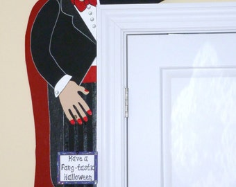 "Halloween WOOD PATTERN-""The Count"" Door Hugger""  42"" Tall"