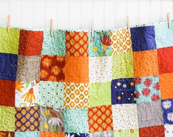 Baby Quilt - Crib Quilt - One for You One for Me - READY TO SHIP