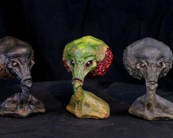 Classic Martian Alien Mini Bust - 1950s Style Monster