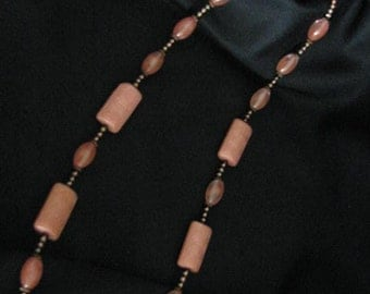 Pink and Copper Necklace