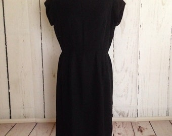Vintage 50s LBD - Melwine of Miami - Wiggle Dress - Cocktail Party Dress