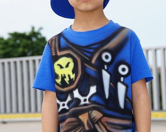 Blue NINJA T-shirt |Ninjago Jay t-shirt |Warrior T-SHIRT |Airbrushed t-shirt |Ninjago birthday party gift for boys and girls |Personalized