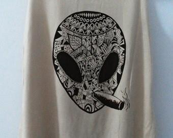 Alien Aztec Punk Tank top Pop Punk Rock Tank Top Vest Women T shirt lady T-Shirt Size S,M,L-