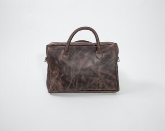 Leather Messenger Bag - Laptop Leather Bag - Dark Brown Leather Laptop Bag - Handmade Leather Laptop Bag - Elegant Handmad Laptop Bag