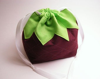 A Boysenberry Named Pouchy - Drawstring pouch, omiyage, fruit, berry, japanese, purse, food